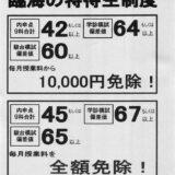 平成28年度臨海セミナーESC高校受験科(中2・中3)特待生基準