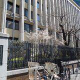 青山学院高等部 校門脇の桜 2019 年3月 21 日撮影